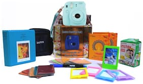 Fujifilm Instax mini 9 Ice Blue Festival pack Instant Camera