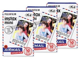 Fujifilm Instax Mini Film for Instant Film Camera - Airmail 10 Sheets/Pack x 3(total 30 Sheets)