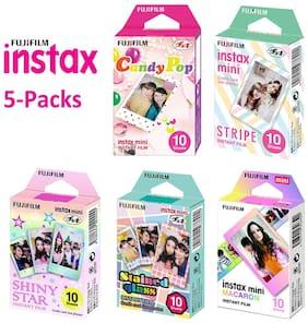 Fujifilm Instax Mini 50 Prints Paper Film - Fuji Instant 7s 8 9 Camera SP1 Photo