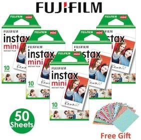 Fujifilm Instax Mini Film Instant 50 Photos For Fuji 8 8+ 9 25 50 90 Camera SP-2