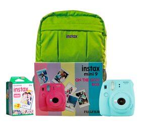 Fujifilm Instax Mini 9 Ice Blue On The Go Box Combo (Camera + Films + Bag) (Ice Blue)