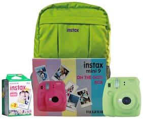 Fujifilm Instax Mini 9 Lime Green On The Go Box Combo (Camera + Films + Bag) (Lime Green)