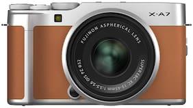 Fujifilm X-A7 Kit (XC15-45mm F3.5-5.6 OIS PZ Lens) 24.2 MP Mirrorless Digital Camera (Camel Brown)