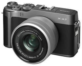 Fujifilm X-A7 Kit (XC15-45mm F3.5-5.6 OIS PZ Lens) 24.2 MP Mirrorless Digital Camera (Dark Silver)