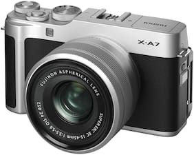 Fujifilm X-A7 Kit (XC15-45mm F3.5-5.6 OIS PZ Lens) 24.2 MP Mirrorless Digital Camera (Silver)