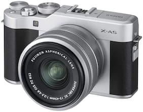 Fujifilm X Series X-A5 Mirrorless Camera Body with 15 - 45 mm Lens F3.5 - 5.6 OIS PZ  (Silver, Black)