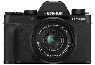 Fujifilm X Series X-T200 Kit (15-45 mm Lens) Mirrorless Camera (Black)