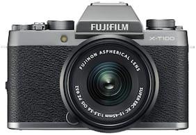 Fujifilm X-T100 (with XC 15-45 mm Lens) 24.2 MP Mirrorless Camera (Dark Silver & Black)