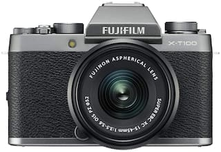 Fujifilm X-T100 (with XC 15-45 mm Lens) 24.2 MP Mirrorless Camera (Dark Silver & Black)