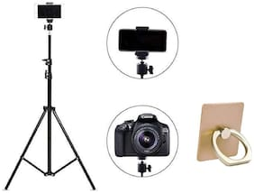 G Gapfill 7ft 210cm Long Foldable Camera Tripod For All Smartphones And iOS Devices And Cameras With  Free Phone Ring