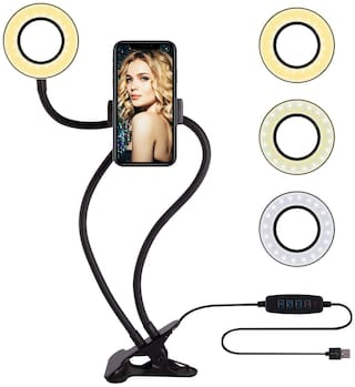 G Gapfill and Cell Phone Holder Stand Upgraded Selfie Ring Light  Set