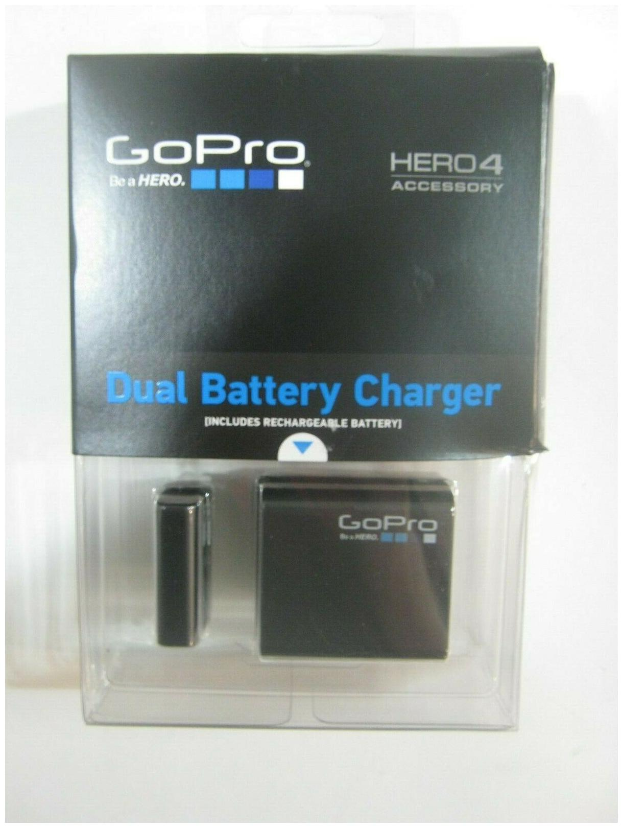 for HERO4 Black//HERO4 Silver GoPro OFFICIAL ACCESSORY Battery GoPro Dual Battery Charger