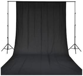 GINNI BACKDROP PHOTO LIGHT STUDIO PHOTOGRAPHY BACKGROUND (8 x 10  ft, BLACK)