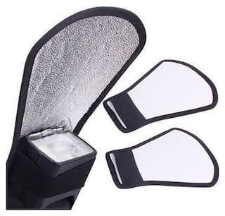 Ginni Silver White Flash Diffuser Reflector for Canon Nikon Pentax Yongnuo Sony
