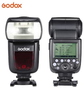 Godox V860II-C E-TTL 1/8000S HSS Master Slave GN60 Speedlite Flash Built-in 2.4G Wireless X System with 2000mAh Rechargeable Li-ion Battery for Canon