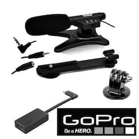 GoPro AAMIC-001 ADAPTOR FOR HERO7 BLACK HERO6 + ZOOM MICROPHONE + GOPRO MOUNT