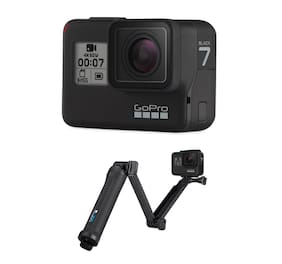 GoPro HERO7 Black 12 MP Sports & Action Camera with Free 3 Way Grip