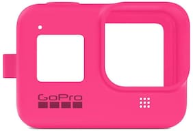 GoPro Sleeve and Lanyard for HERO8 Black Camera, Electric Pink #AJSST-007