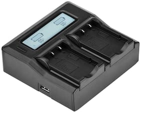 Green Extreme Dual Smart Charger with LCD Screen for FUJI NP-60 #GX-CH2-NP60