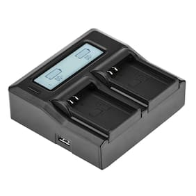 Green Extreme Dual Smart Charger with LCD Screen for Olympus BLN-1 #GX-CH2-BLN1