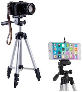 HD BUY Camera Tripod Stand With 3-Way Head Tripod for Digital Camera DV Camcorder, Tripod 3110 with mobile Phone holder mount Tripod