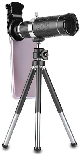 HD Mobile Phone Telephoto Lens 20XTripod Zoom Optical Telescope Camera Lens with Clips Universal for All Phone By TSV