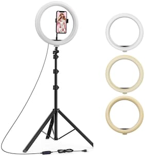 HPYP Hub 10 inch LED Ring Light with 7 Feet Long Tripod Stand Combo for Tiktok MX Taka tak Instagram Reels