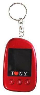 "I Love NY DPV151R 1.5"" Digital Photo Keychain - Red"
