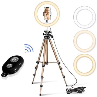 IMMUTABLE 10  inches Big LED Ring Light with Remote for Camera Smartphone