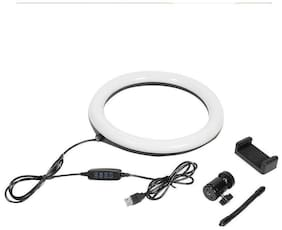 IMMUTABLE 12-inch Dimmable 3-Modes LED Ring Light with Ball-Head for Making up,Videos