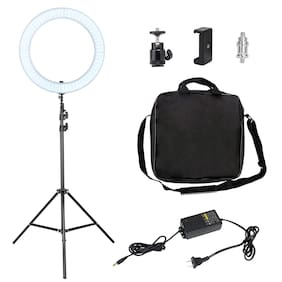 IMMUTABLE 14  inch Ring Light With Tripod Stand LED Camera Selfie Tripod