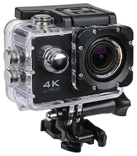 IMMUTABLE 4K Ultra HD Water Resistant Sports Action Camera Ultra Wide-Angle Lens with 2 Inch Display & Full Accessories (16 MP)