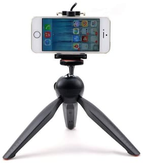IMMUTABLE 7-inch Mini Tripod With 360 deg Rotating Ball Head With Mobile Clip For All Android and iPhone Smartphones (Multi)