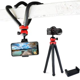 IMMUTABLE Camera Flexible Tripod, Cell Phone Tripod 12 Inch Gorilla Tripod Lightweight Bendable Tripod with Heavy Duty Smartphone Stand, Compatible for Action Camera