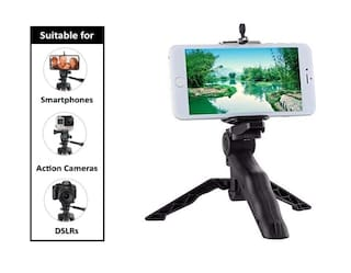 IMMUTABLE Table Top Mini Portable Foldable Tripod Stand for Mobile Phones and Cameras
