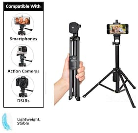 IMMUTABLE Vct-1688 2In1 Portable Mini Cellphone Selfie Stick Tabletop Tripod with Remote Controller | TIK tok Stand for Phone | Best for You Tuber