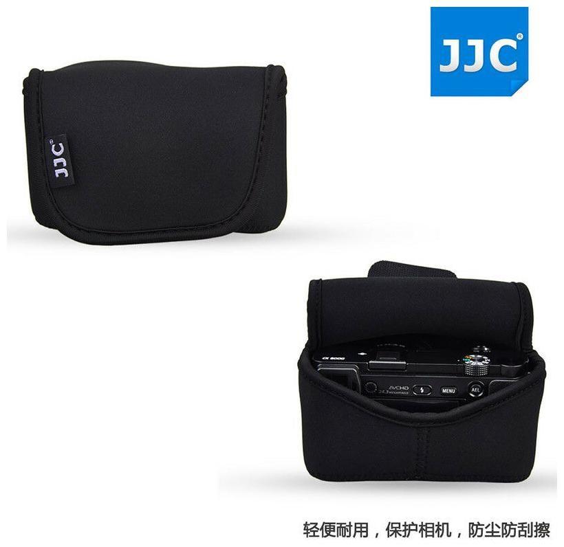 JJC Camera Pouch Case Bag for Olympus E PL7 E PL6 E PL5 + 14 42mm II R Lens