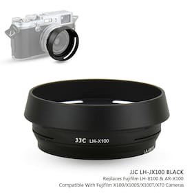 JJC Metal Lens Hood + Adapter Ring for Fujifilm Fuji X100F X100S X100T X100V X70