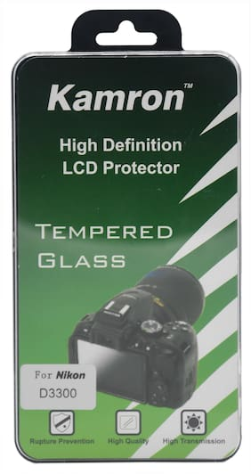 Kamron High Definition LCD Protector Tempered Glass for Nikon D3200/D3300/D3400