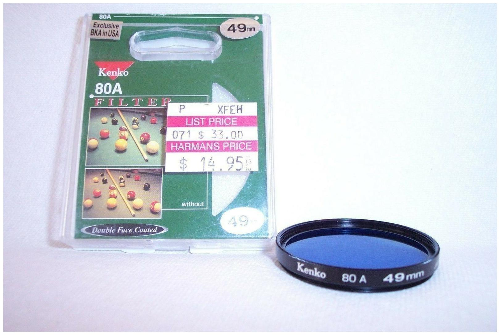 Kenko 49 mm NEW 80A Screw In Filter with Case Made in Japan  K 209