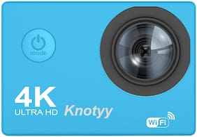 Knotyy 4K WiFi 16 MP Action Camera With Housing