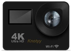 Knotyy Ultra HD 4K Sports and Action Camera (Black 16 MP)