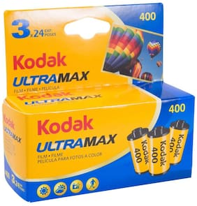 Kodak 6034052 Ultra Max 400 Film (Blue/Yellow) 3 Pack
