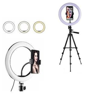 LED Ring Light with 3120 Tripod  Phone Holder for Live Streaming  Tik TokYouTube Video Dimmable Desk