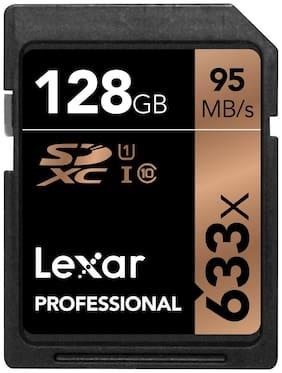 Lexar Professional 633 x 128GB SDXC UHS-I/U1 Card - LSD128GCB1NL633