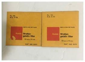 Lot of 2 Kodak Wratten Gelatin Filter 75mm X 75mm No 96 N.D. 0.70 149 6371 NOS