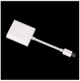 Tech Gear White Mini displayport Display Port to VGA adapter Cable for Apple Macbook PC DP M-VGA