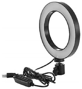 Mectronix Hi-Brightness Ring Light with Phone Holder Dimmable Makeup Light with 3 Light Mode,10 Level Brightness for Make-up/Video Shooting/Vlogging (12 Month Warranty) (10 inch)