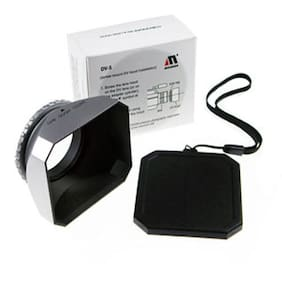 Mennon 30mm Screw-In Digital Video Lens Hood in Silver for Cameras Camcorders
