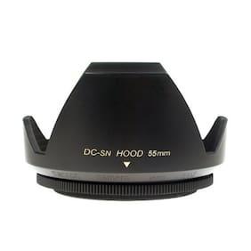 Mennon DC-sn 55 Improved Screw Mount 55mm Flower camera Lens Hood, Black plastic